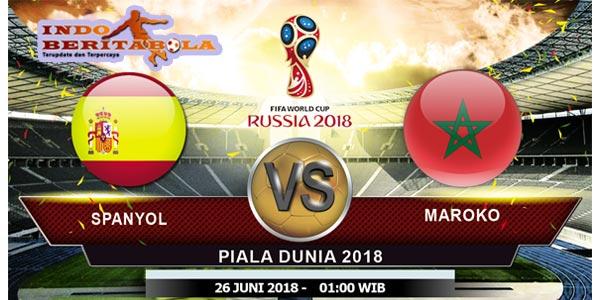 Prediksi Pertandingan Bola Spanyol vs Maroko 26 Juni 2018
